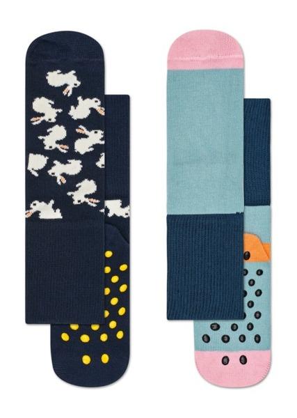 Skarpetki dziecięce antypoślizgowe (2-pak) Happy Socks  KBUN19-6000